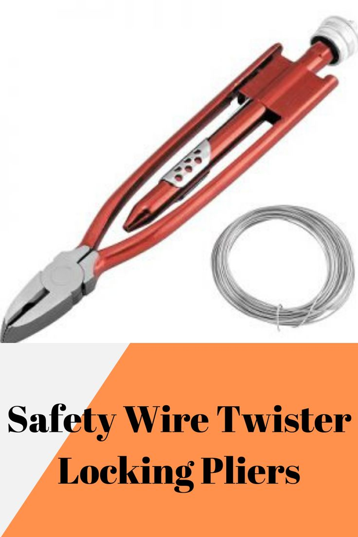 6 safety wire twister locking pliers reversible safety