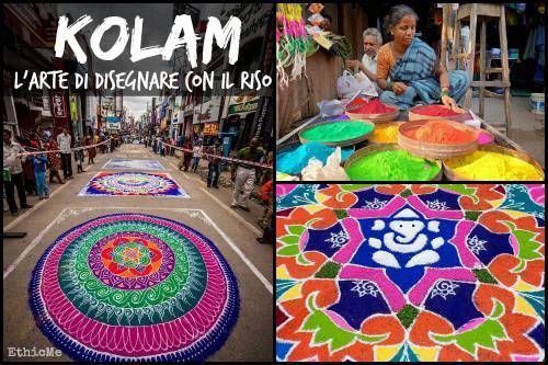 Kolam o Rangoli: l'antica stree-art indiana [FOTO]