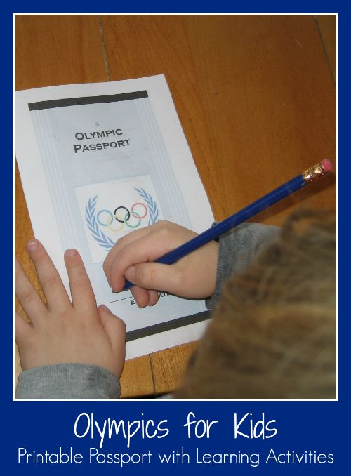 Olympics for Kids Printable Passport with Learning Activities