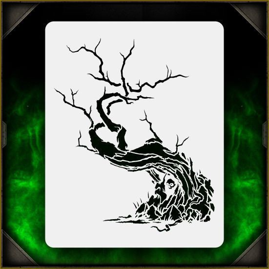 Creepy Tree 1 - Airbrush Stencil Template Airsick Zombies | Crafts, Multi-Purpose Craft Supplies, Stencils & Templates | eBay!
