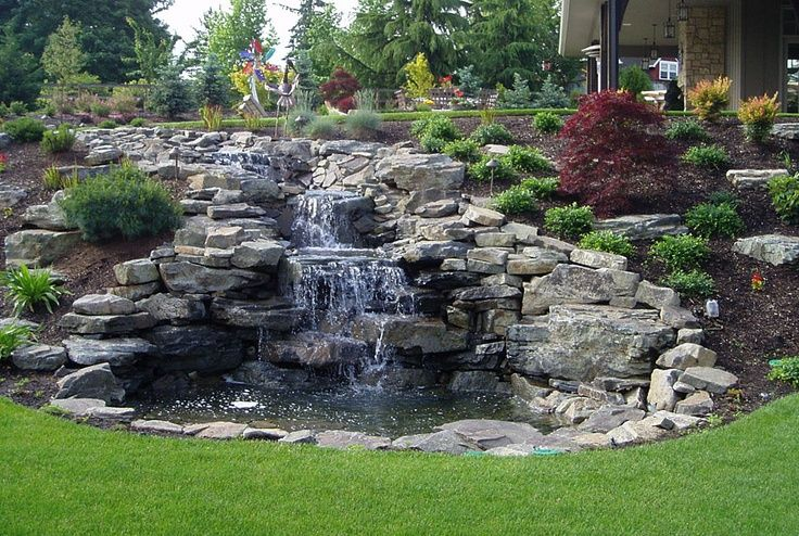 1000 images about waterfall pond ideas on pinterest for Tiered pond waterfall