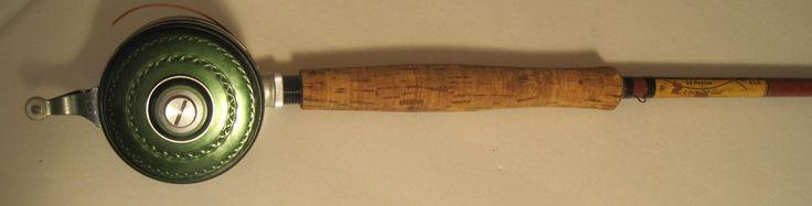 """Lot #233 -""""Hedliner"""" by Heddon - 8 1/2 Ft Fiberglass Fishing Rod w/Shakespeare Reel"""