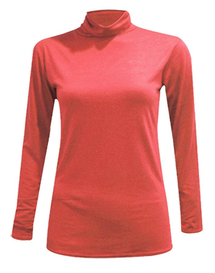 Womens Ladies Turtle Polo Neck Top Short Sleeve High Neck T-Shirt Plus Size 8-26