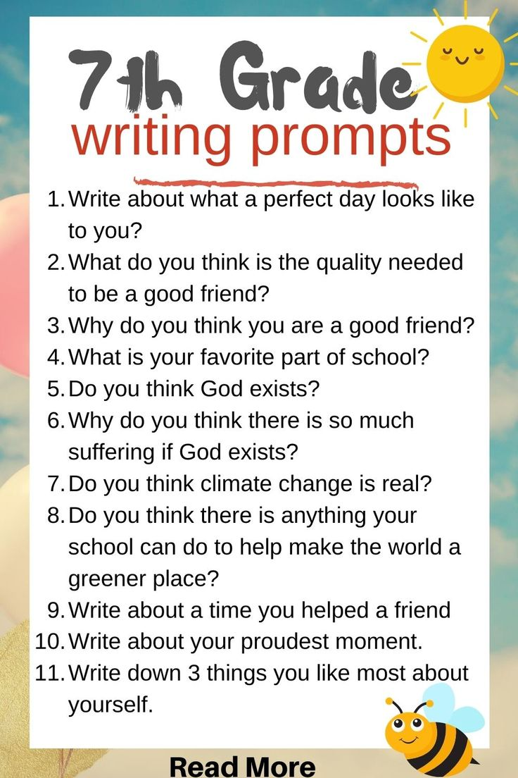 Writing Prompts | 7th grade writing, Middle school writing