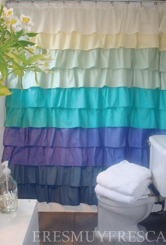 325 best images about cortinas de ba o on pinterest ruffled shower curtains two shower - Cortinas para ventana bano ...