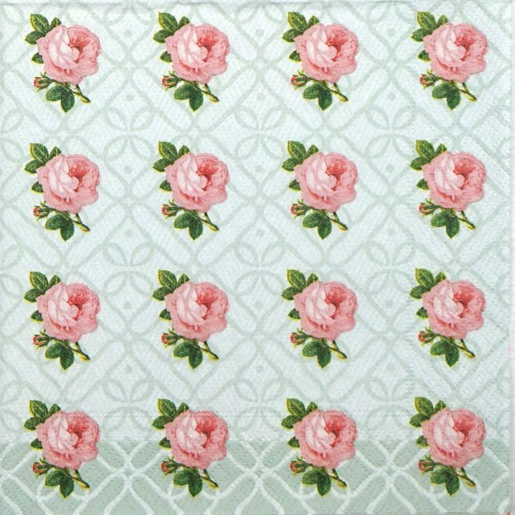 4x Paper Napkins for Decoupage Decopatch Craft Small Vintage Roses