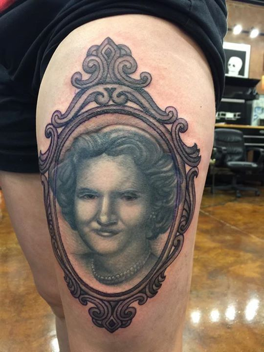 olio.tattoo Portrait Tattoo by James from Asylum Tattoo Cincinnati - Cincinnati, OH #portrait -- More at: https://olio.tattoo/tattoo-images/mentions:portrait