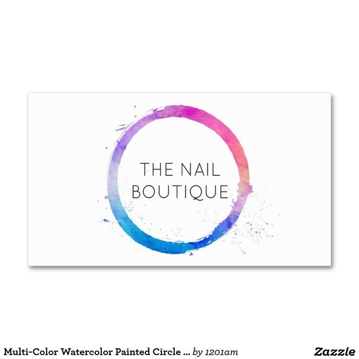 56 best business cards for bloggers fashion stylists images on multi color watercolor painted circle logo business card reheart Images