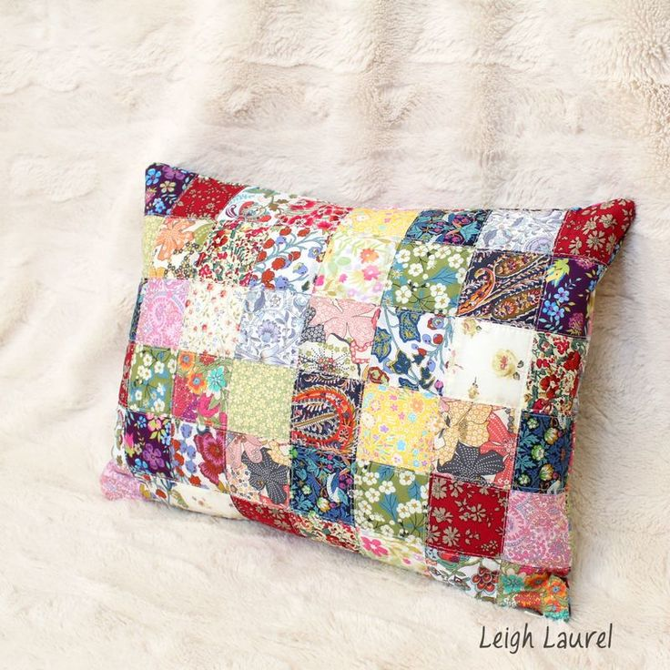 Scrappy liberty pillow by karin jordan .... this is definite, good old fashioned patchwork!   I love it!