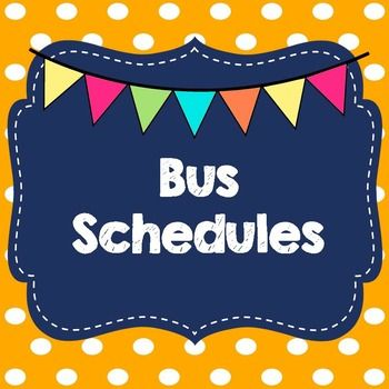 Life Skills Reading, Time and Math: Bus Schedules
