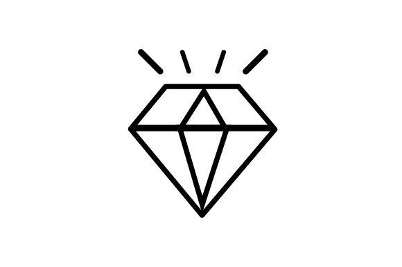 Diamond Icon Graphic By Arus Creative Fabrica Diamond Drawing Diamond Icon Money Bag Tattoo