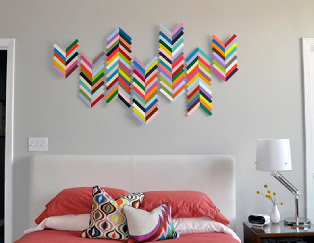 Best 25 cool wall art ideas on pinterest bicycle art - Creative bedroom wall designs ...