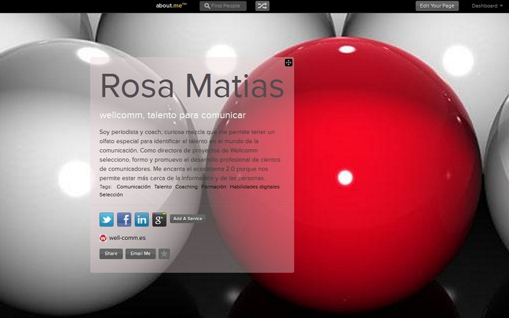 Otra herramienta para mostrar tu mejor perfil digital, gracias Rosa por compartir