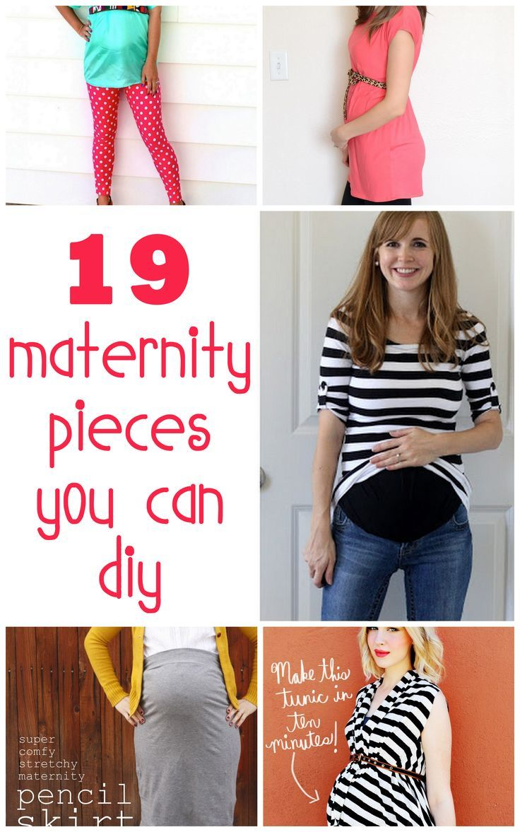 Don't want to spend a fortune on clothes you can only wear for 9 months? Try out these easy tutorials.