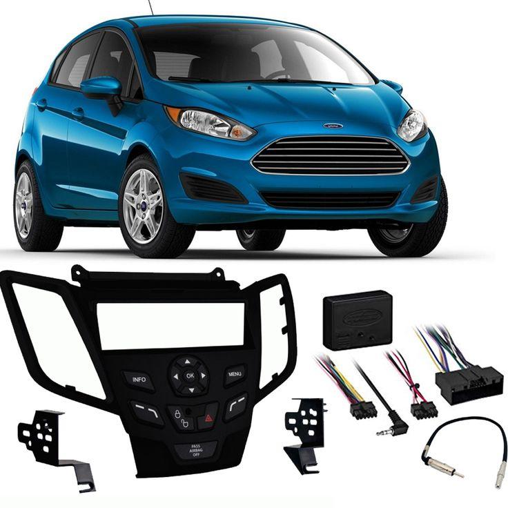 Ford Fiesta 2016 2017 2018 2019 Single Din Stereo Harness Radio Install Dash Kit Black Sc2 Radiokit1788 Ford Fiesta Ford Car Audio Installation