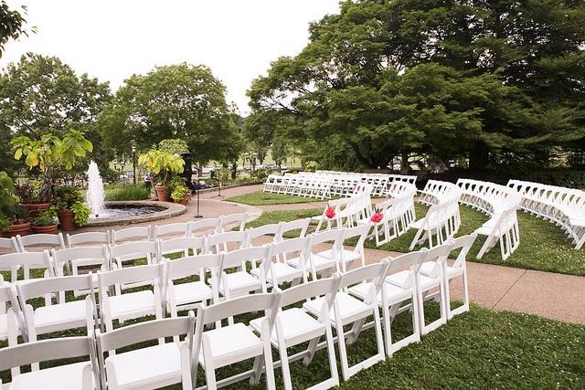 #PGH Outdoor Garden #Wedding Ceremony At #Phipps