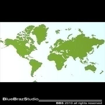 World 3D Model- C4D file (obj-dxf-3ds) for a 3D map of
