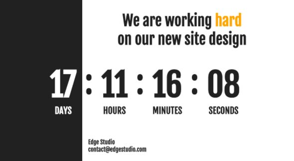 coming soon edge theme website template templates site. Black Bedroom Furniture Sets. Home Design Ideas