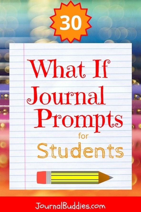 "These ""What if"" statements are fun for kids because they allow them to imagine different scenarios and transcribe them in their journals. It encourages them to think creatively and to get out of their comfort zone while writing. They are useful for elementary school journals as well as middle and high school journals. via @journalbuddies"