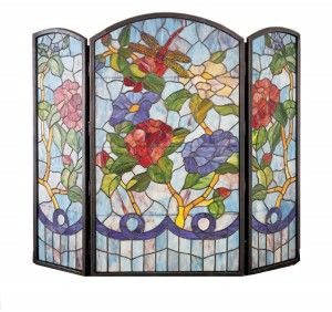 Stained Glass Fireplace Screen | TheReviewSquad.com