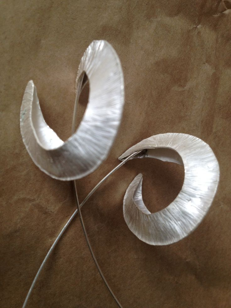 Sterling silver fold formed earrings