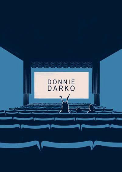 Donnie Darko print, Illustration, Minimal film poster, minimalist movie art, custom posters, film and movie print, film art