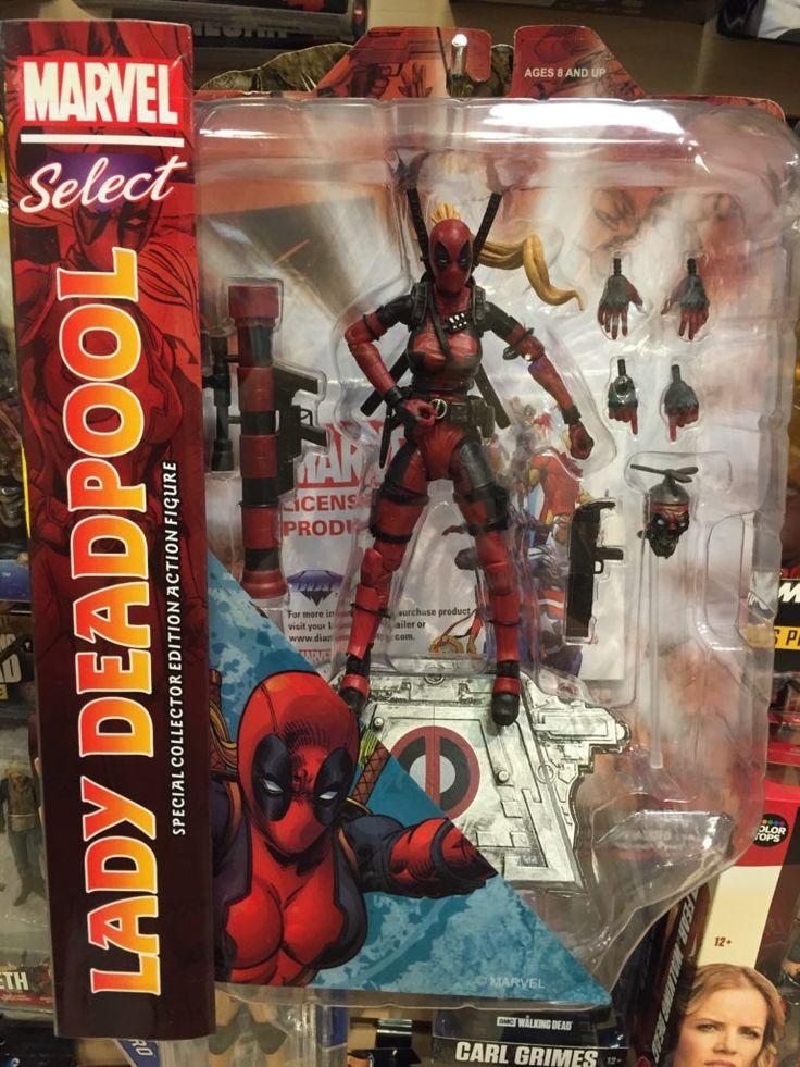 Marvel Select Lady Deadpool Figure Packaged