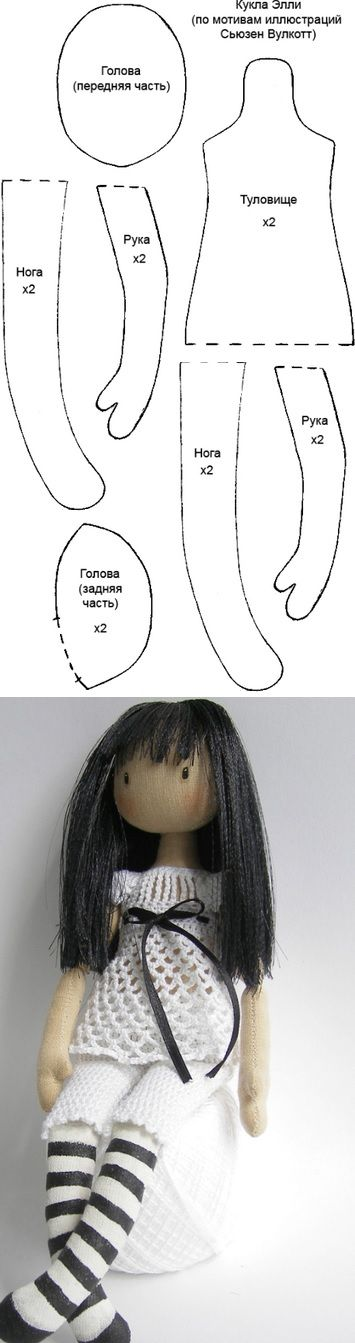 Doll base Suzanne Woolcoltt Doll Making Pattern and Tutorial