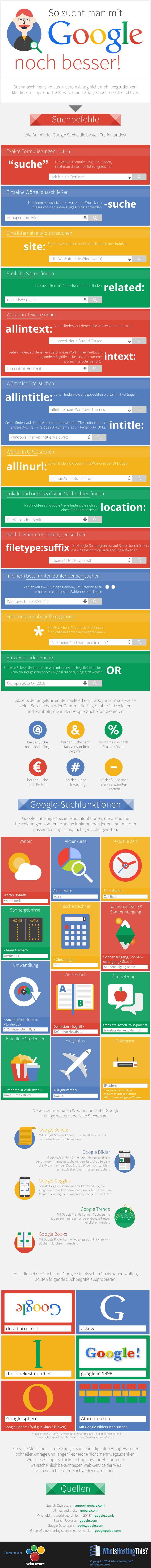 #Infografik für Google Suchbefehle #googledork