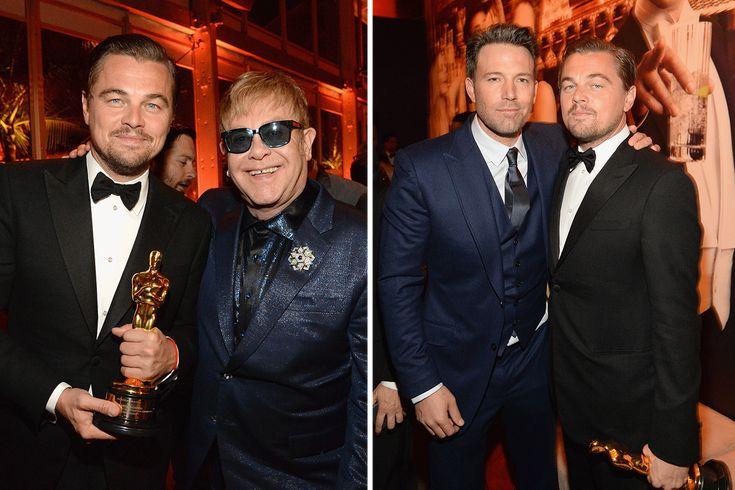 Inside Vanity Fair's Oscar party, Leo is the king of the world.
