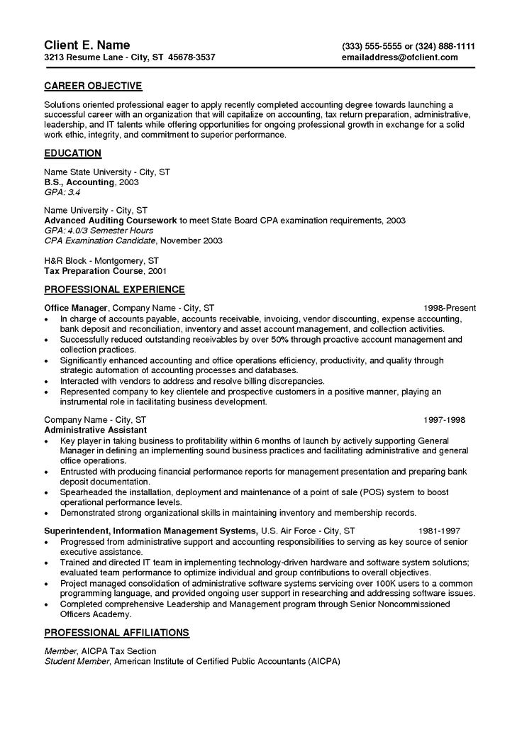 Best 25+ Sample objective for resume ideas on Pinterest Good - objective on resume
