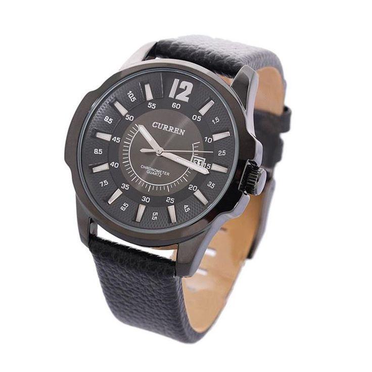 Annons på Tradera: Nytt CURREN 8123 Kronometer Quartz vattenbeständig herrur, med datum