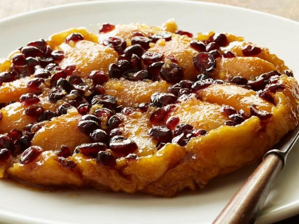 Get Upside-Down Pear Cranberry Tart Recipe from Food Network