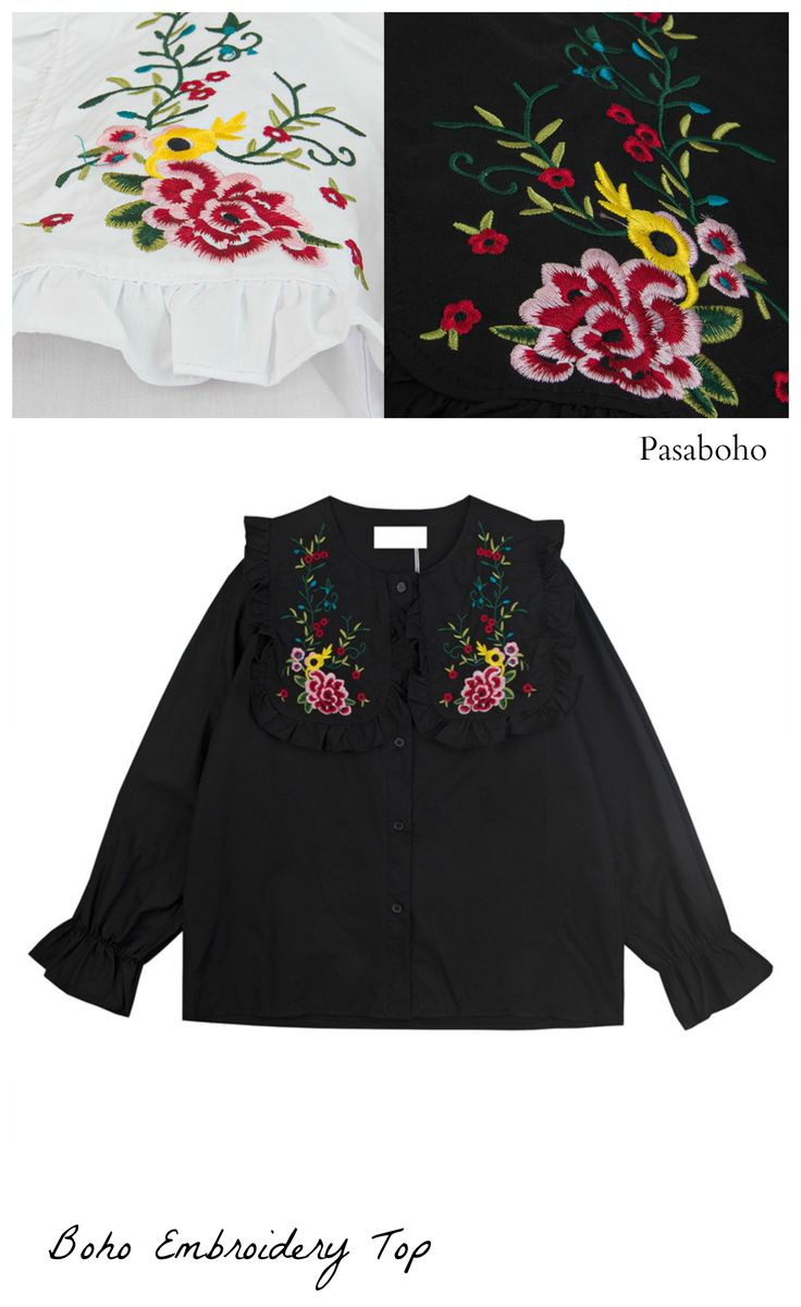 $34.00 - A Beautiful Embroidery Top is now available at Pasaboho. ❤️ This top exhibit brilliant design with embroidered floral patterns. :: boho fashion :: gypsy style :: hippie chic :: boho chic :: outfit ideas :: boho clothing :: free spirit :: fashion trend :: embroidered :: flowers :: floral :: lace :: summer :: fabulous :: love :: street style :: fashion style :: boho style :: bohemian :: modern vintage :: ethnic tribal :: boho bags :: embroidery dress :: skirt :: cardigans :: tops
