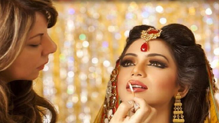 14 Best Images About Party Makeup Tutorial On Pinterest | Pakistani Bridal Makeup Blue Gold And ...