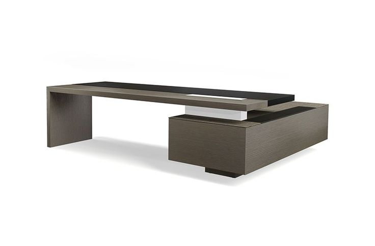 CEOO Desk; Consistent adherence to the design concept for every function and every detail is a key feature in the entire CEOO programme. Pure architecture for the stylish interior. The aesthetic of the elegant collage made up of a small number of materials dominates, and remains undisturbed by handles, grooves, visible fittings.
