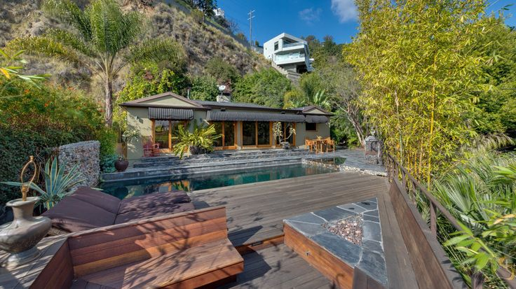 """Johnny Galecki, the actor who appears in the TV sitcom """"The Big Bang Theory,"""" is listing his home in Los Angeles's Hollywood Hills for $1.995 million. #celebrityrealestate"""