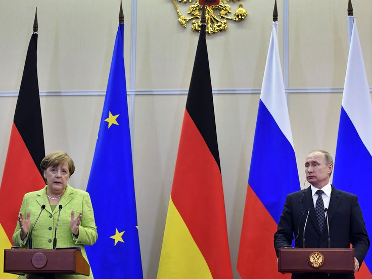 Angela Merkel has publicly raised concerns over the reported persecution of gay men in Chechnya with Vladimir Putin, following wide-ranging talks. The German Chancellor raised the alleged capture and torture of more than 100 people at a joint press conference with the Russian President in Sochi. http://www.independent.co.uk/news/world/europe/angela-merkel-vladimir-putin-russia-talks-chechnya-gay-people-germany-ukraine-sanctions-syria-assad-a7713511.html