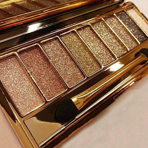 2016 Fashion 9 Colors Eyeshadow Palette & Makeup Cosmetic Brush Set free…