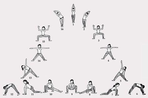 moon salutation  bing images  yoga sequences  hatha