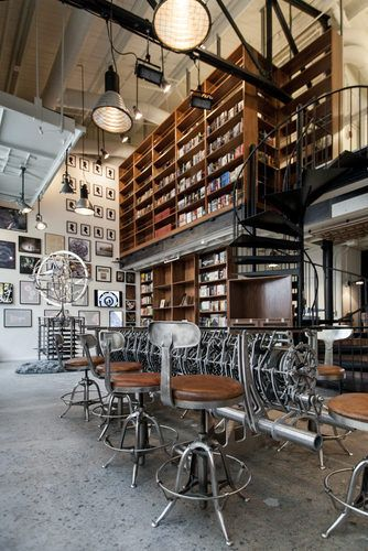 The Interval - a bar, cafe, and events space that feels like stepping into an eccentric genius' well-appointed personal library. San Francisco Hotel Interior Designs