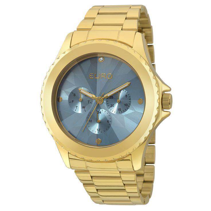 Relógio Euro Fumê Dourado - EU6P29AGQ/4A - euro
