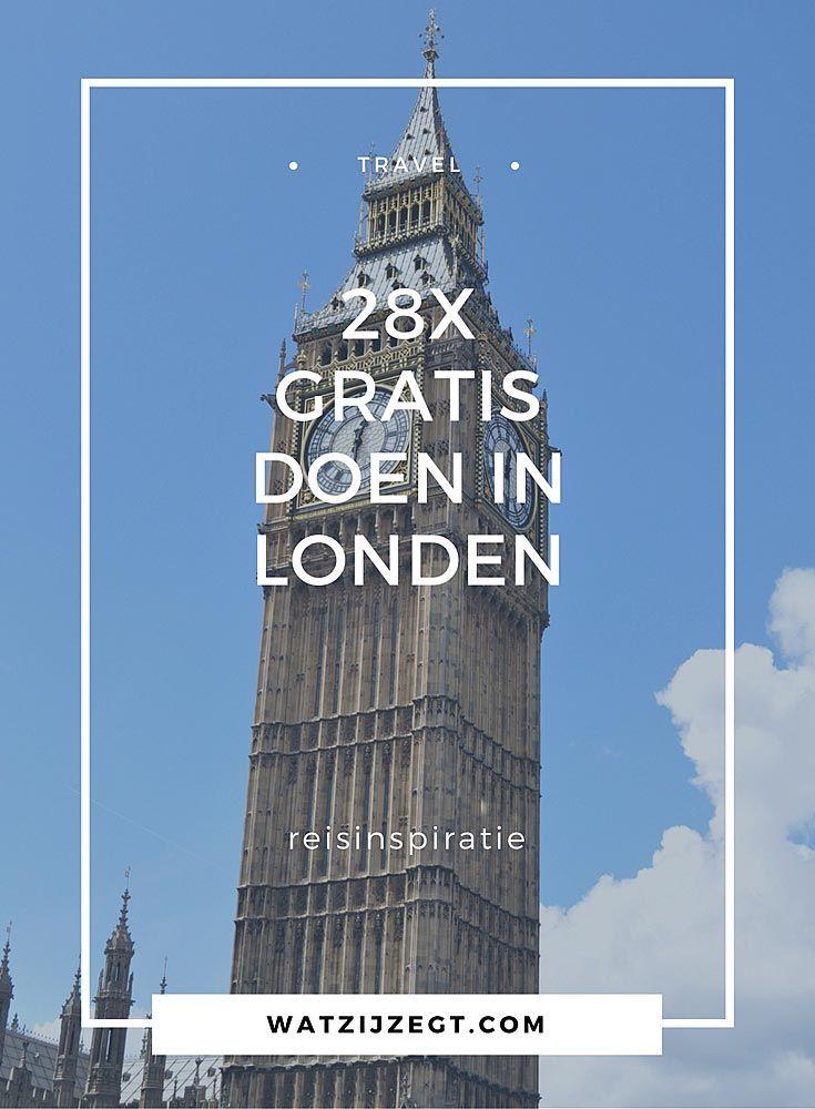 28x gratis doen in Londen // Engeland