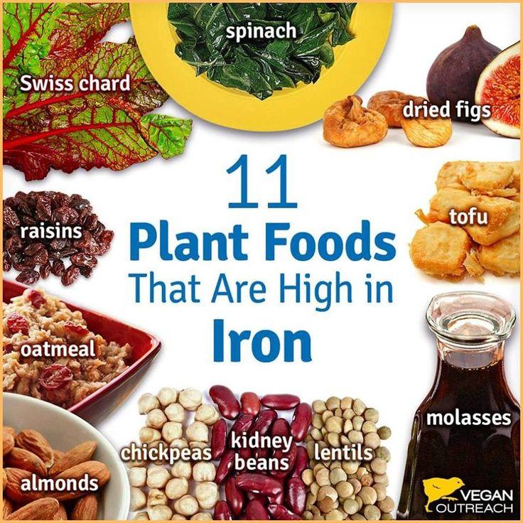 Φυτικές τροφές γεμάτες σίδηρο