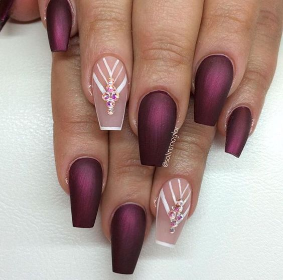 This nail selection that you will see here is prodigious and will help you  to enhance - Best 25+ Crystal Nails Ideas On Pinterest Nail Crystal Designs