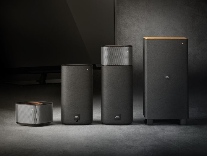 Philips is following up on the success of its Fidelio sound bar with a component speaker system that features fully wireless, battery-powered surround speakers. The system doesn't include a center channel, but is otherwise extremely versatile, offering Bluetooth wireless and several wired audio connections.