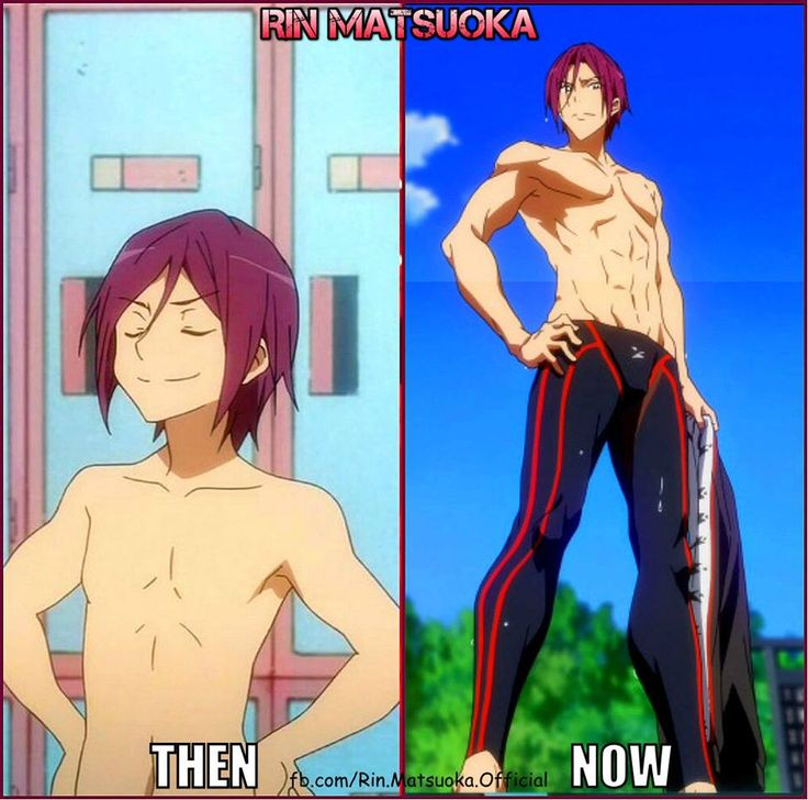 Free! ES ~~ All those sweaty days in the weight room paid off, ne, Rin?