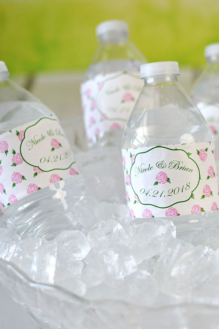 Diy Wedding Water Bottle Labels The Hippest Pics