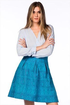 Şimdi Moda · Marin Esintileri - Mavi Etek 2515SS150036 %50 indirimle 39,99TL ile Trendyol da