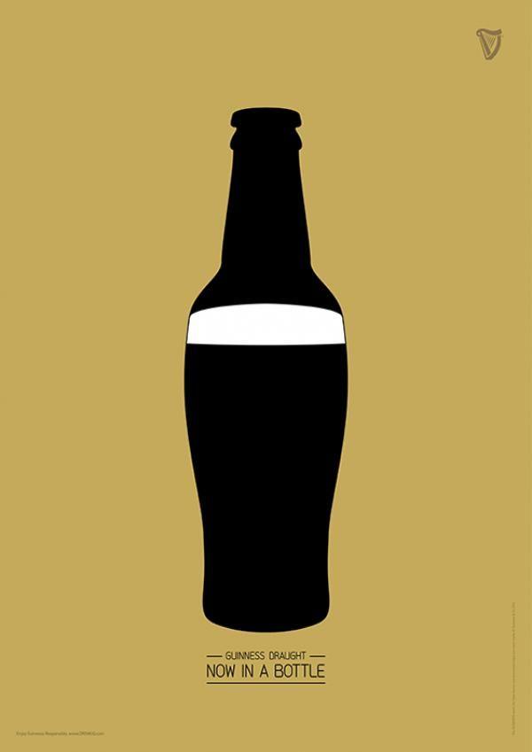 「ギネスがそのままボトルの中に。」 コピーがそのままアイデアになったオシャレな広告   AdGang